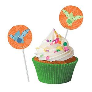 Bandeirinha Para Docinhos Festa Dino Baby - 8 Unidades - Festcolor - Rizzo Embalagens