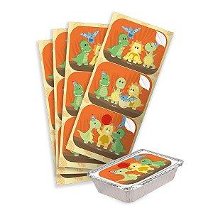 Adesivo Retangular Festa Dino Baby - 12 Unidades - Festcolor - Rizzo Embalagens