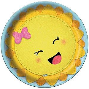 Prato de Papel  Festa Raio de Sol - 8 Unidades - Festcolor - Rizzo Embalagens