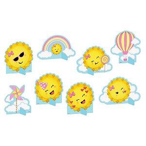 Decoração de Mesa Festa Raio de Sol - 8 Unidades - Festcolor - Rizzo Embalagens