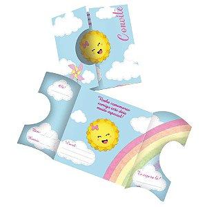 Convite Festa Raio de Sol - 8 Unidades - Festcolor - Rizzo Embalagens