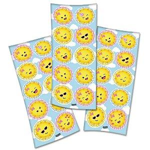 Adesivo Festa Raio de Sol - 30 Unidades - Festcolor - Rizzo Embalagens