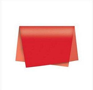 Papel de Seda - 48x60cm - Vermelho - 10 folhas - Villa Pack - Rizzo