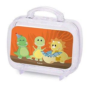 Maleta Acrílica para Lembrancinha Transparente  Festa Dino Baby - 6 Unidade - Rizzo Embalagens