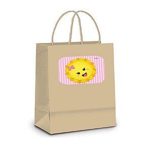 Sacola de Papel Kraft P Festa Raio de Sol - 10 unidades - Rizzo Embalagens