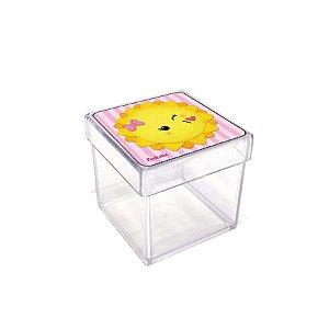 Caixinha Acrílica Lembrancinha Festa Raio de Sol - 5cm x 5cm 20 unidade - Rizzo Embalagens