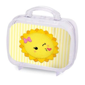 Maleta Acrílica para Lembrancinha Transparente  Festa Raio de Sol - 6 Unidade - Rizzo Embalagens
