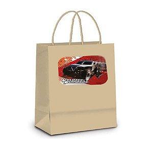 Sacola de Papel Kraft P Festa Velozes e Furiosos - 10 unidades - Rizzo Embalagens