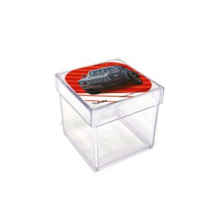 Caixinha Acrílica Lembrancinha Festa Velozes e Furiosos - 5cm x 5cm 20 unidade - Rizzo Embalagens