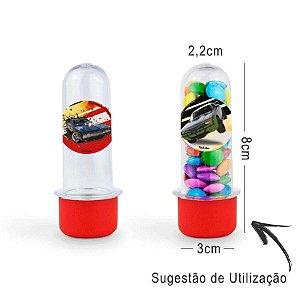 Mini Tubete Lembrancinha Festa Velozes e Furiosos 8cm 20 unidades - Vermelho - Rizzo Embalagens