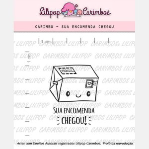 Carimbo Sua Encomenda Chegou! Cod 31000017 - 01 Unidade - Lilipop Carimbos - Rizzo