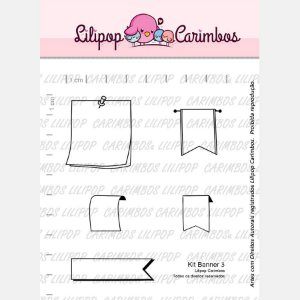 Carimbo Banner 3 Cod 31000023 - 01 Unidade - Lilipop Carimbos - Rizzo