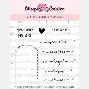 Carimbo Obrigada Cod 31000018 - 01 Unidade - Lilipop Carimbos - Rizzo