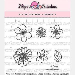 Carimbo Flores 1 Cod 31000027 - 01 Unidade - Lilipop Carimbos - Rizzo