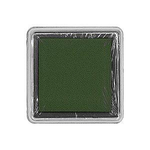 Almofada para Carimbo em Plástico e Espuma - Carimbeira Verde Escuro 2,5x2,5cm - 01 Unidade - Rizzo Embalagens