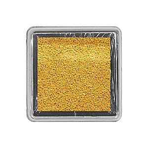 Almofada para Carimbo em Plástico e Espuma - Carimbeira Dourado 2,5x2,5cm - 01 Unidade - Rizzo Embalagens