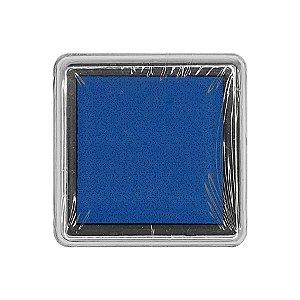 Almofada para Carimbo em Plástico e Espuma - Carimbeira Azul Marinho 2,5x2,5cm - 01 Unidade - Rizzo Embalagens