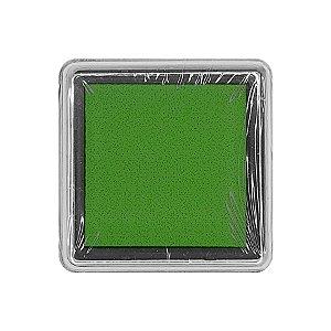 Almofada para Carimbo em Plástico e Espuma - Carimbeira Verde 2,5x2,5cm - 01 Unidade - Rizzo Embalagens