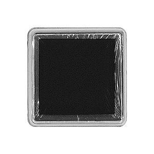 Almofada para Carimbo em Plástico e Espuma - Carimbeira Preto 2,5x2,5cm - 01 Unidade - Rizzo Emba