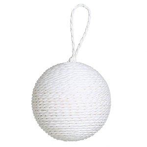 Kit Bolas Cordas Branca 10cm - 04 unidades - Cromus Natal - Rizzo