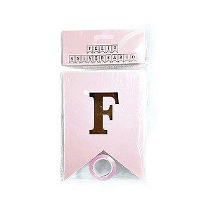Letras Decorativas Feliz Aniversário Rosa - 1 Unidade - YOSS - Rizzo Embalagens
