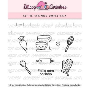 Carimbo Confeitaria Cod 31000031 - 01 Unidade - Lilipop Carimbos - Rizzo Embalagens