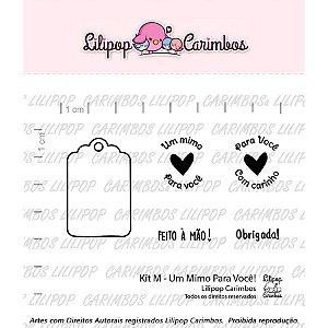 Carimbo M  Um Mimo Para Voce Cod 31000033 - 01 Unidade - Lilipop Carimbos - Rizzo Embalagens