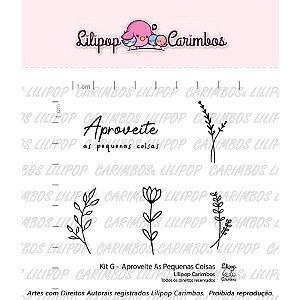 Carimbo G  Aproveite as Pequenas Coisas Cod 31000034 - 01 Unidade - Lilipop Carimbos - Rizzo Embalagens
