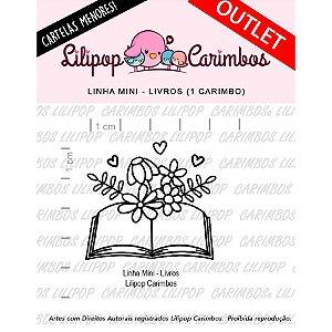 Carimbo Mini Livros Cod 31000037 - 01 Unidade - Lilipop Carimbos - Rizzo Embalagens