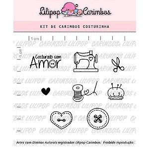 Carimbo Costurinhas Cod 31000039 - 01 Unidade - Lilipop Carimbos - Rizzo Embalagens