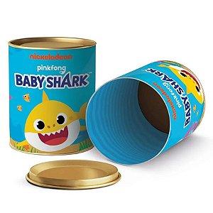 Lata para Lembrancinhas Festa Baby Shark - 11x9cm - 01 Unidade - Cromus - Rizzo Embalagens
