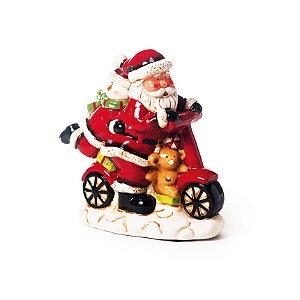 Noel na Moto com Som e Luz 20cm - 01 unidade - Cromus Natal - Rizzo