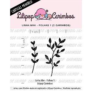 Carimbo Mini Folhas 1 - Cod 31000054 - 01 Unidade - Lilipop Carimbos - Rizzo Embalagens
