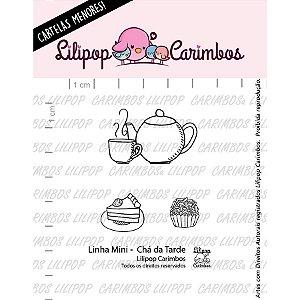 Carimbo Mini Cha da Tarde - Cod 31000059 - 01 Unidade - Lilipop Carimbos - Rizzo Embalagens