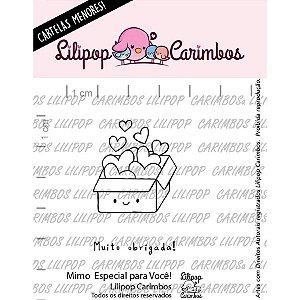 Carimbo Mini Um Mimo Especial para Voce Cod 31000065 - 01 Unidade - Lilipop Carimbos - Rizzo Embalagens