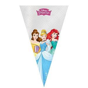 Cone Festa Princesas 18x30cm - 50 unidades - Cromus - Rizzo Embalagens