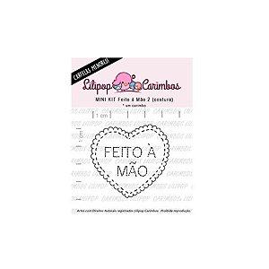 Carimbo Mini Feito a Mão 2 costura - Cod 31000072 - 01 Unidade - Lilipop Carimbos - Rizzo Embalagens
