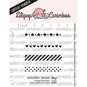 Carimbo Mini Bordas Cod 31000076 - 01 Unidade - Lilipop Carimbos - Rizzo Embalagens