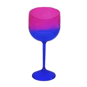 Taça Gin Acqua com 550ml Degradê Azul e Pink - Rizzo Embalagens
