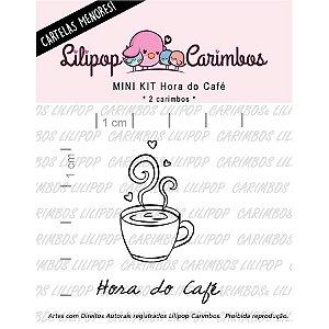 Carimbo Mini Hora do Cafe - Cod 31000094 - 01 Unidade - Lilipop Carimbos - Rizzo Embalagens