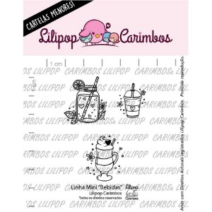 Carimbo Mini  Bebidas - Cod 31000103 - 01 Unidade - Lilipop Carimbos - Rizzo Embalagens