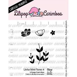 Carimbo Mini Flores 4 Cod 31000412 - 01 Unidade - Lilipop Carimbos - Rizzo Embalagens