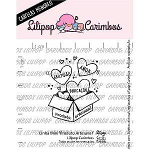 Carimbo Mini Produto Artesanal - Cod 31000383 - 01 Unidade - Lilipop Carimbos - Rizzo Embalagens