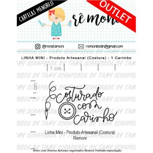 Carimbo Mini Produto Artesanal Costura Cod 41000030 - 01 Unidade - Lilipop Carimbos - Rizzo Embalagens