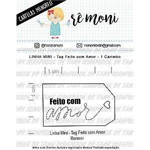 Carimbo Mini Tag Feito com Amor Cod 41000033 - 01 Unidade - Lilipop Carimbos - Rizzo Embalagens