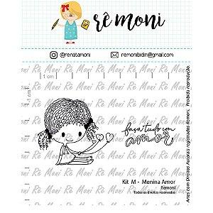 Carimbo M  Menina Amor Cod 41000068 - 01 Unidade - Lilipop Carimbos - Rizzo Embalagens