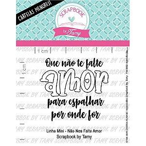 Carimbo Mini Nao nos Falte Amor Cod 71000050 - 01 Unidade - Lilipop Carimbos - Rizzo Embalagens