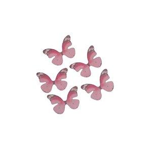 Enfeite Tecido Decorativo Borboleta Rosa - ArtLille - 10 Uni - Rizzo Embalagens