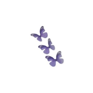 Enfeite Tecido Decorativo Borboleta Roxa - ArtLille - 10 Uni - Rizzo Embalagens