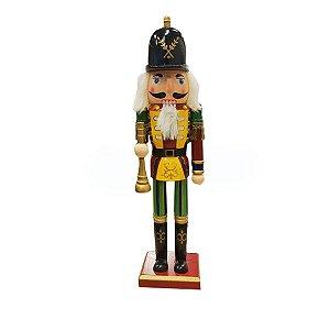 Boneco Soldado Quebra Nozes de Madeira EN031-01 - 38cm - 1 unidade - Global Master - Rizzo Embalagens